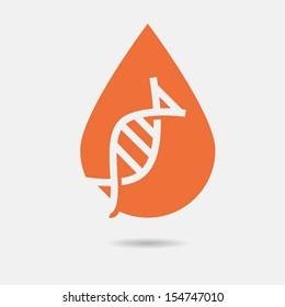 DNA elements icon set