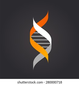 DNA genetic sign, element and icon