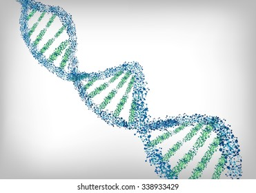 DNA green blue background.Vector