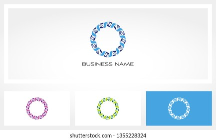 DNA Helix Genetic Circle Logo