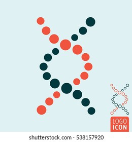 DNA helix icon. Genetic or biochemistry symbol. Vector illustration