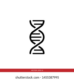 DNA Helix Icon Vector Illustration