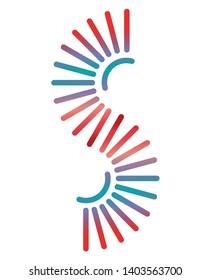 DNA Helix S Logo Amblem