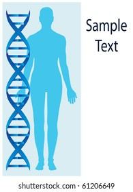 Dna and human body vector
