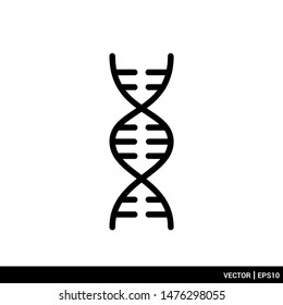 DNA icon. dna helix icon vector illustration logo template. EPS 10