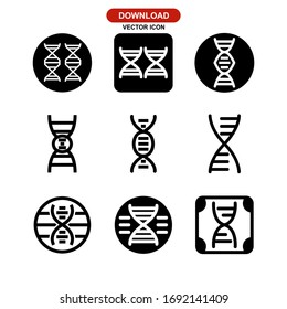 DNA icon or logo isolated sign symbol vector illustration - Collection of high quality black style vector icons