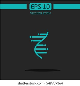 DNA icon on dark background.logo design.graphic image.abstractedly DNA
