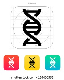 DNA icon on white background. Vector illustration.