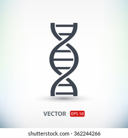 DNA icon. One of set web icons