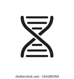DNA icon symbol vector. on white background. eps 10