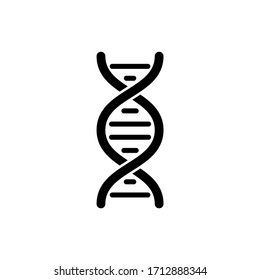 DNA icon in trendy flat design