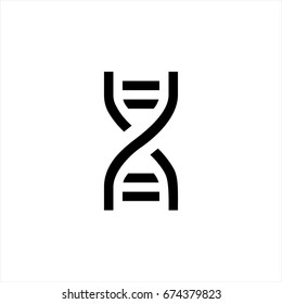 Dna icon in trendy flat style isolated on background. Dna icon page symbol for your web site design Dna icon logo, app, UI. Dna icon Vector illustration, EPS10.