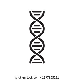 DNA icon vector flat style trendy logo template