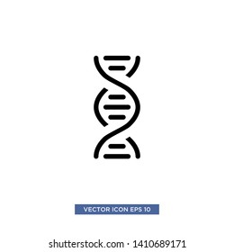 DNA icon vector illustration template