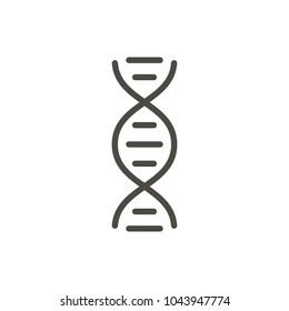 DNA icon vector. Line genetic symbol. Trendy flat biology outline ui sign design. Thin linear graphic pictogram for web site, mobile application. Logo illustration. Eps10.