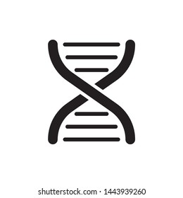 DNA icon vector symbol. on white background. eps10