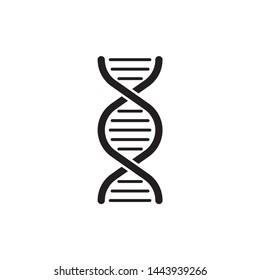 DNA icon vector symbol. on white background. eps10