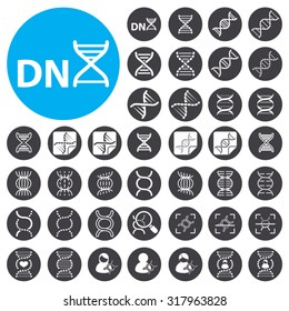 DNA icons set. Illustration EPS10