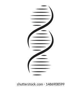 DNA line. Element and icon genetic symbols isolated on white background.