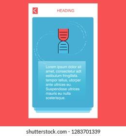 DNA mobile vertical banner design design. Vector