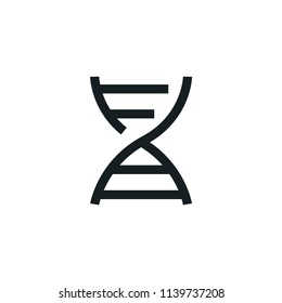 DNA Modern Simple Outline Vector Icon