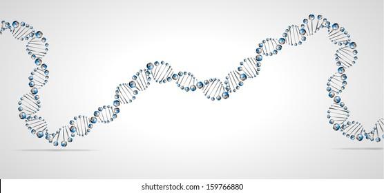 DNA molecule structure background. eps10 vector illustration