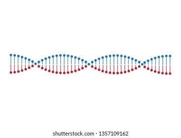 DNA molecule vector illustration. Gene. Medical technology.