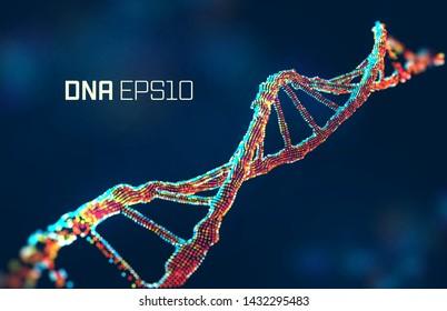 dna molecule vector illustration. Genetic science abstract background. Gene design