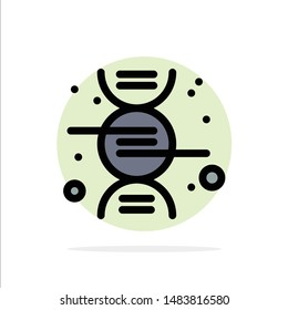 Dna, Research, Science Abstract Circle Background Flat color Icon