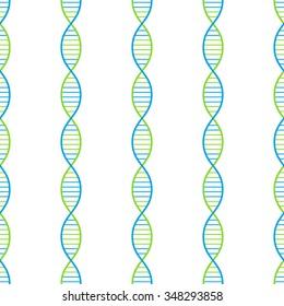 DNA seamless vector background, 2d illustration, eps 8