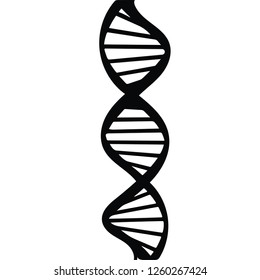 DNA Silhouette isolated