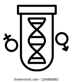 Dna strand design icon, genetics concept