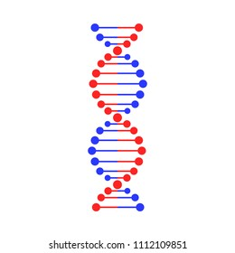 DNA strand symbol. Isolated on white background