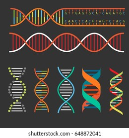 DNA structure background and icon