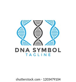 DNA symbol graphic design element vector