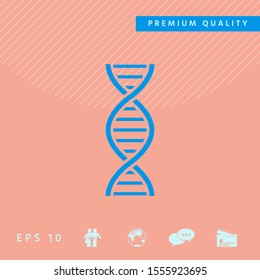 DNA symbol icon. Graphic elements for your design
