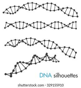 DNA symbols. Set of science symbols.