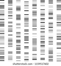 DNA test, barcode, card genome, - flat Vector graphic illustration