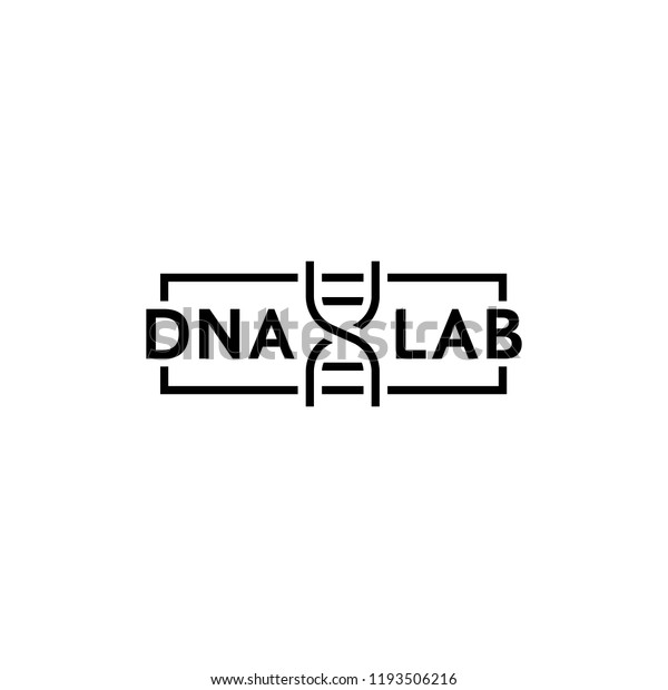 Dna Test Thin Line Logo Concept Stock Vector (Royalty Free) 1193506216