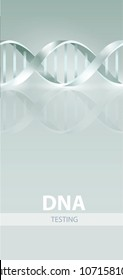 DNA TESTING flaer design. 3d, vector illustration, isolated on white background