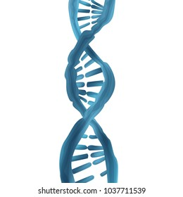 DNA vector concept. Blue structure style illustration. Medical illustration isolated and transparated