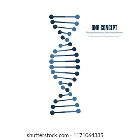 Dna vector flat icon