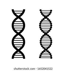 DNA vector icon set. biology illustration sign collection. chromosome symbol.