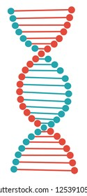 dna vector. research in laboratory. Flat cartoon illustration vector.