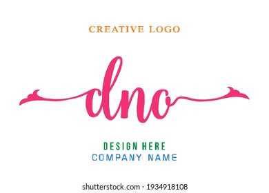 DNO lettering logo is simple, easy to understand and authoritative