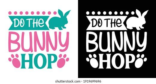 Do The Bunny Hop Printable Vector Illustration