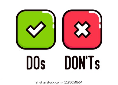 do and don'ts icons images stock photos  vectors