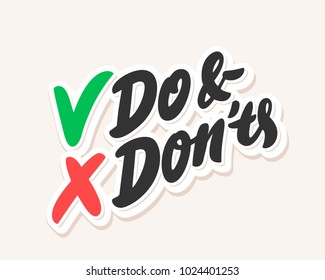 Do and don'ts. Vector lettering