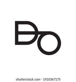 do initial letter vector logo