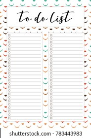 to do list check list printable page vintage colours lady